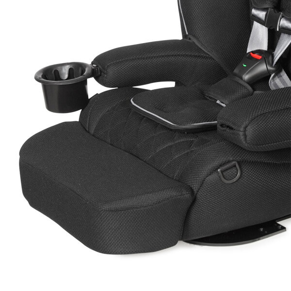 Seat depth extension allows the seat to grow with the child and ensures correct positioning of the thighs