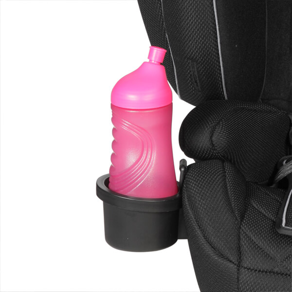 Cup holder, removable large holder (right or left) to keep drinks, snacks and toys ready to hand