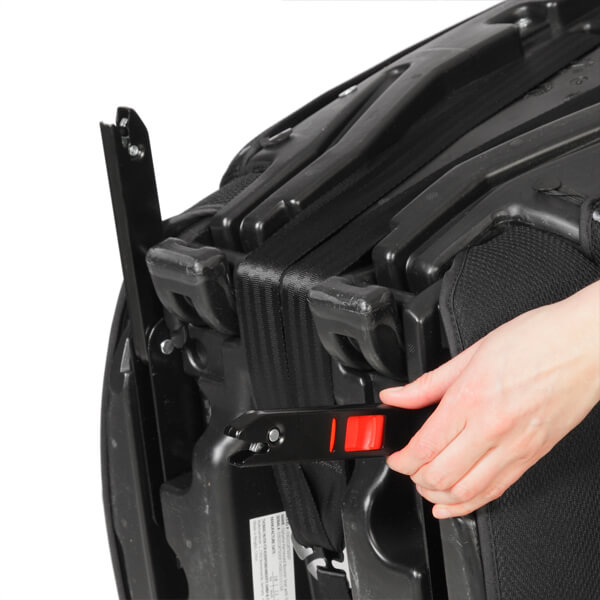 Seatfix incl. Seatfix connectors for anchoring the seat in appropriately equipped vehicles
