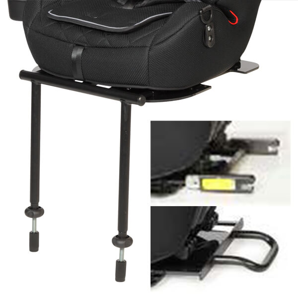 Stand, Seatfix adapter and stabilizing bow guarantee stable seat support in the car