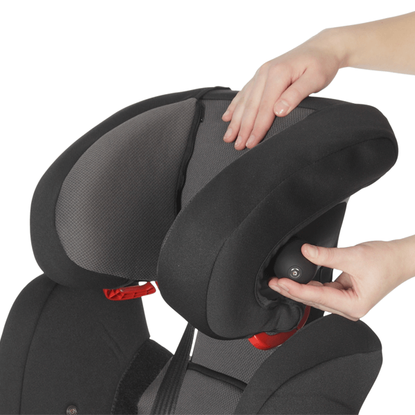 Optimum neck support by inflatable air cushion integrated in the headrest