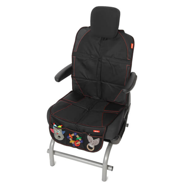 Car seat protection with back
