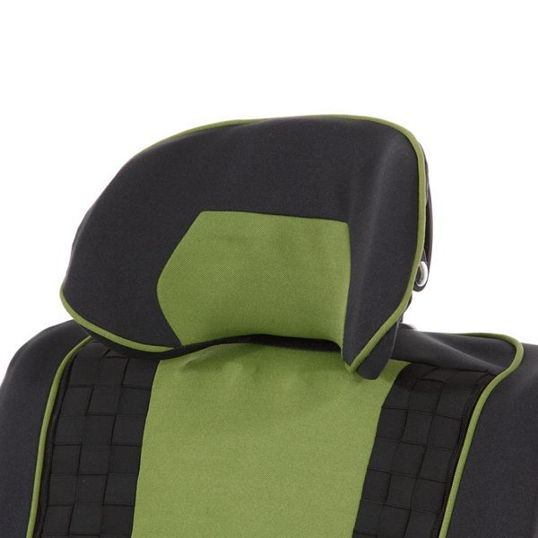 Headrest, shell: provides lots of lateral support, individually adaptable